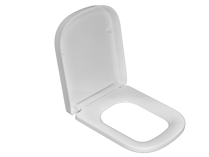 Compression molding for duroplast toilet seat cover